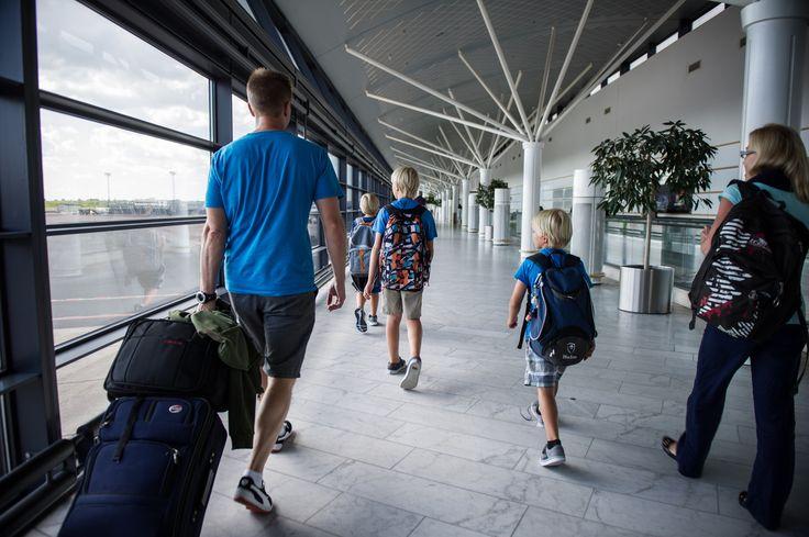Travel moment at Copenhagen Airport.