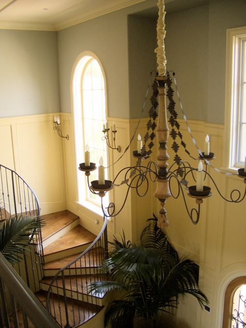 this foyer done in Farrow's Cream and Borrowed Light