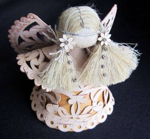 Christmas ornament/ Angels from Birch Bark...Eco friendly--25% Off.. $45.95, via Etsy.