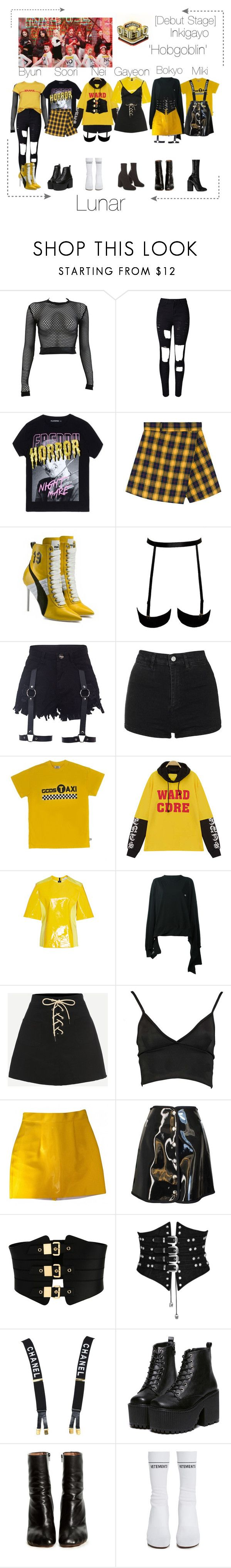 Lunar (루나) [Debut Stage] Hobgoblin Inkigayo (1st Win) by lunar-official ❤ liked on Polyvore featuring PAM, WithChic, Filles à papa, Puma, Topshop, TAXI, Sonia Rykiel, Vetements, Boohoo and American Apparel