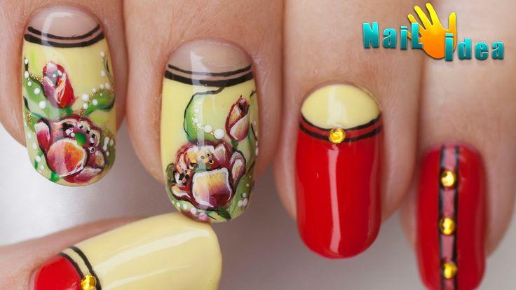 Короткий МАНИКЮР с РИСУНКОМ - это дизайн ногтей гель лаками. Мастер класс по китайской росписи ногтей. В этом видео по дизайну ногтей вы узнаете, как рисоват...