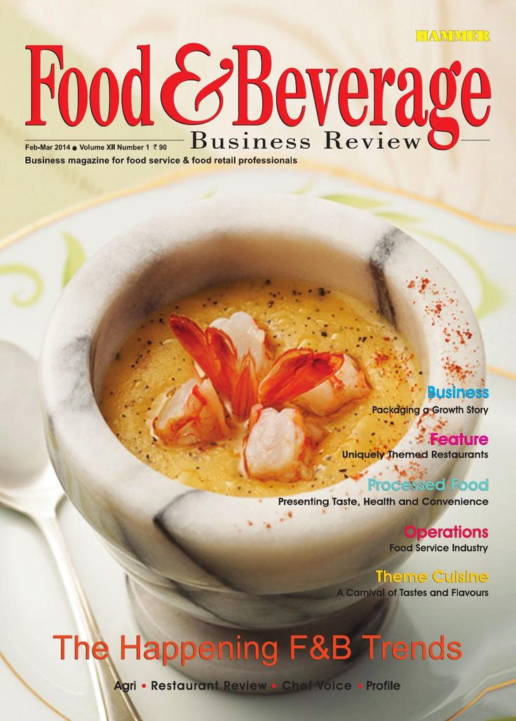 Food & Beverage Business Review (Feb-Mar 2014)  In the Cover Story we have discussed on various important F&B trends pertaining to the Indian food service industry, through the voices of some important industry professionals. The Business Story explored the role and potential of food packaging industry, whose bright present seems to be complemented by a promising future. The Feature section talks about some unique restaurant themes which can give a fillip to the Indian restaurant industry…