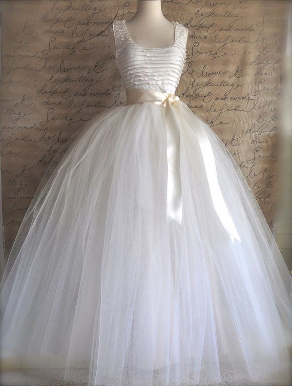 So beautiful for an alternative to an expensive wedding gown. Long for the service then get a knee length in the same color for the reception.