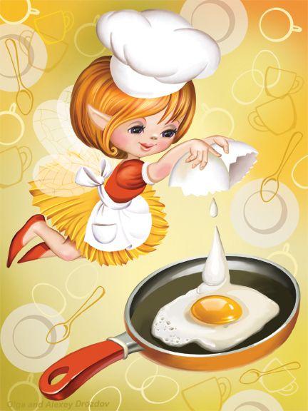 Просмотреть иллюстрациюО. и А. Дроздовы - Завтрак.