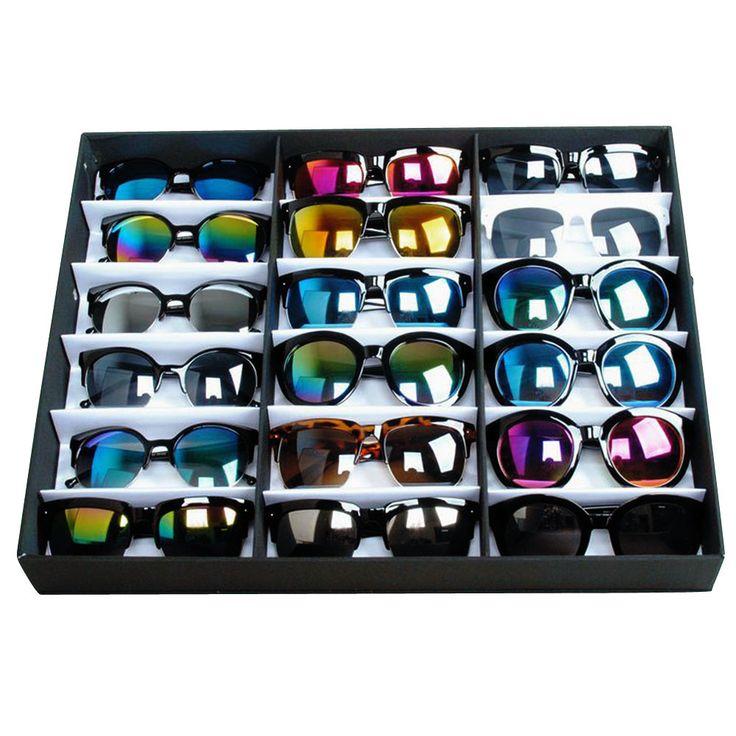 sunglasses Organizer 18 Grid Watches Eyewear Holder Storage Box Container Case Men Women jewellery holder DM#6