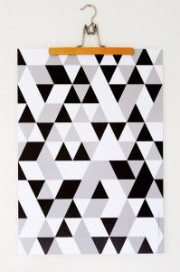 Via Highway Design | Tringel Trangel Geometric Poster