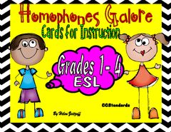 Visuals for Homophones - Great cards to that offer sentences and pictures for students to learn homophones..  A GIVEAWAY promotion for Homophones Galore - Instructional Cards from Essential Reading / Language Skills on TeachersNotebook.com (ends on 4-29-2016)