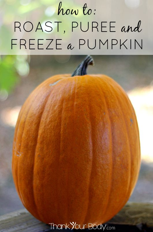Here's a simple guide on how to roast, puree and freeze a pumpkin. Save money and stock up on healthy pumpkin now, so you can enjoy it all year!