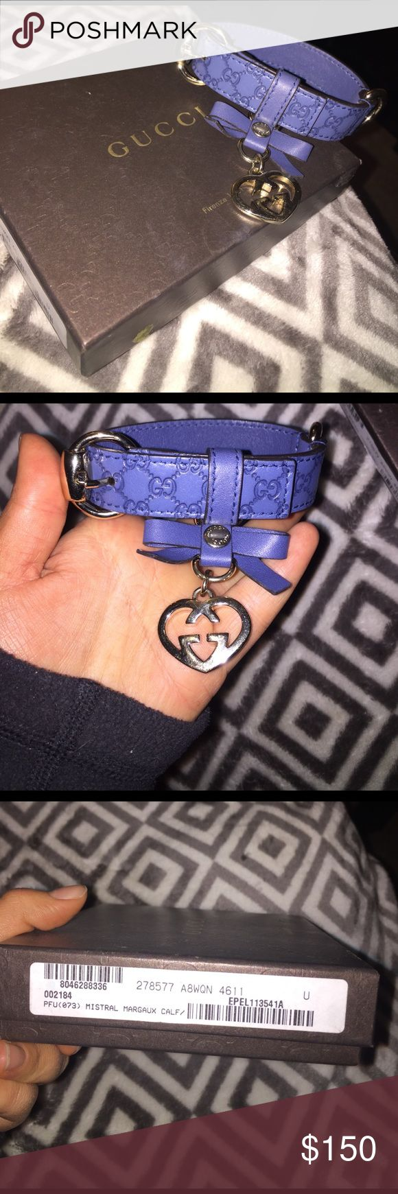 Gucci dog collar Authentic Gucci dog collar for small dogs. Has never been worn; New with box Gucci Other