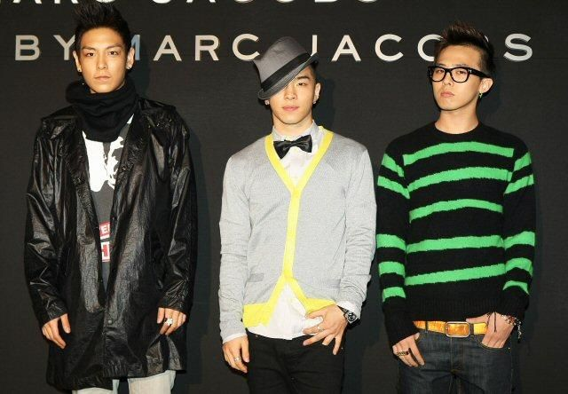 Big Bang in Marc Jacobs (from left Top, Taeyang and GD)