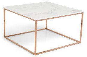Sofabord Titania Hvit Marmor/Kobber 75x75x45 cm