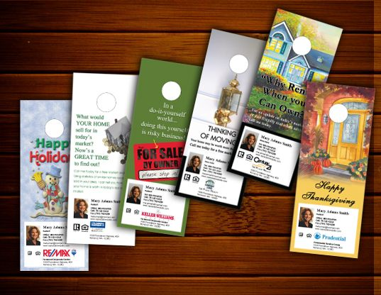Best Real Estate Door Hangers Images On   Door