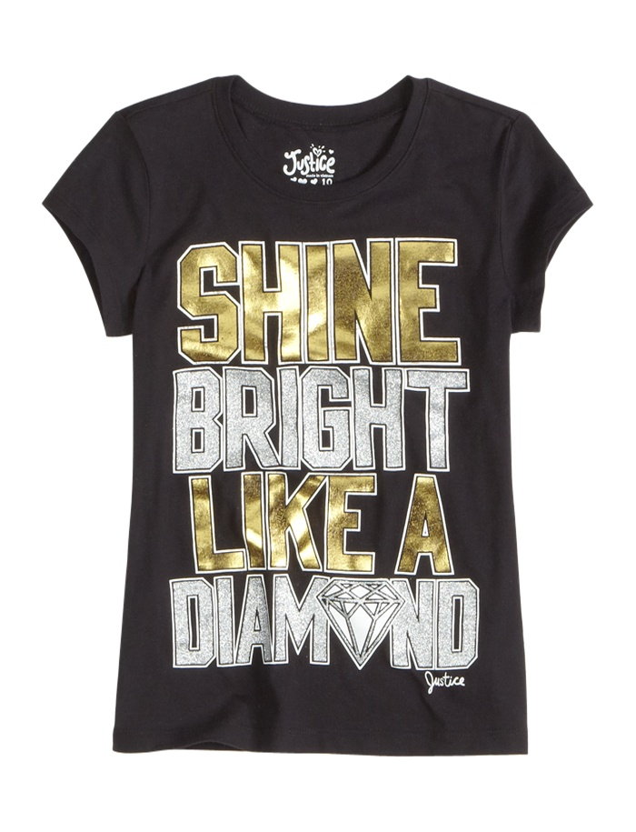Shine Like A Diamond Graphic Tee | Shop Justice DIAMONDS