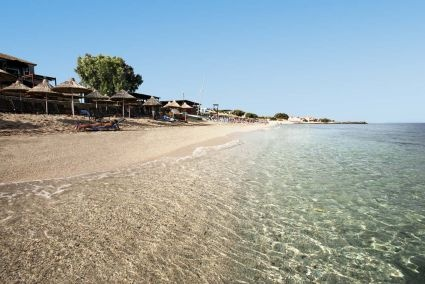 Beautiful beach of the Aldemar Royal Mare in Hersonissos Crete