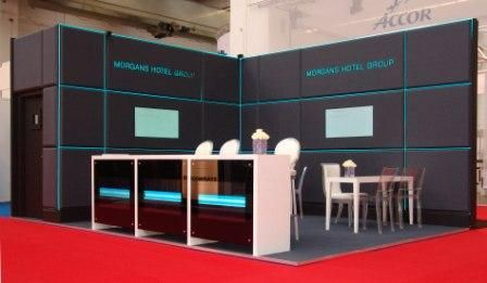 Light Tape on Elevations Exhibition Stand