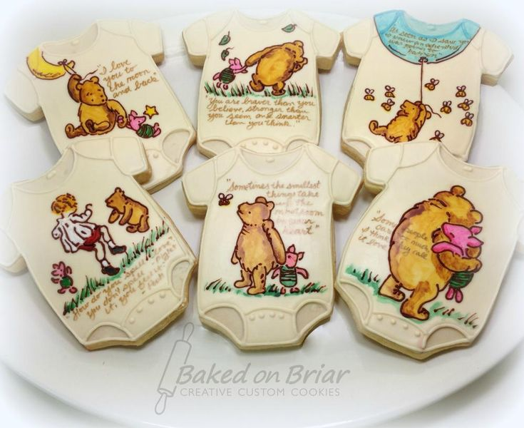 Hand Painted Winnie The Pooh Cookies · Baby Shower ...