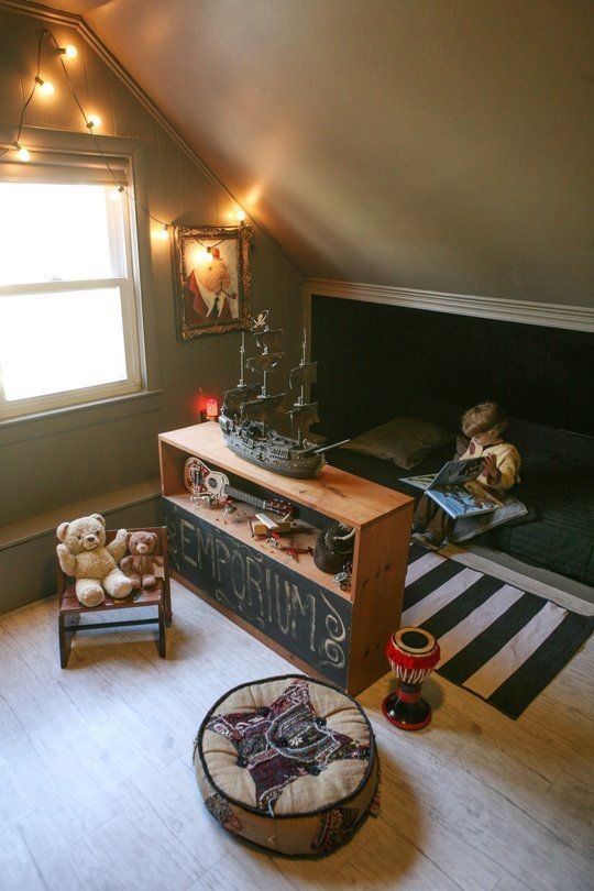A Nook of One's Own: Kids Hideouts & Hideaways. This could be great for a playroom if we finish the attic!