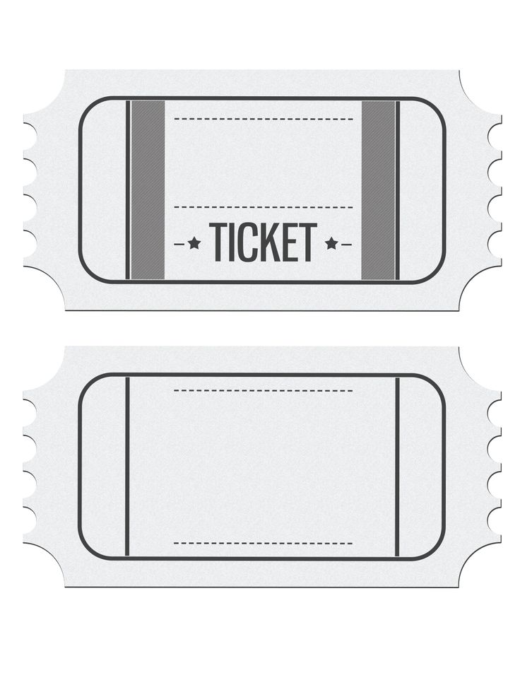 Blank Movie Ticket Invitation Template | Escort, place ...