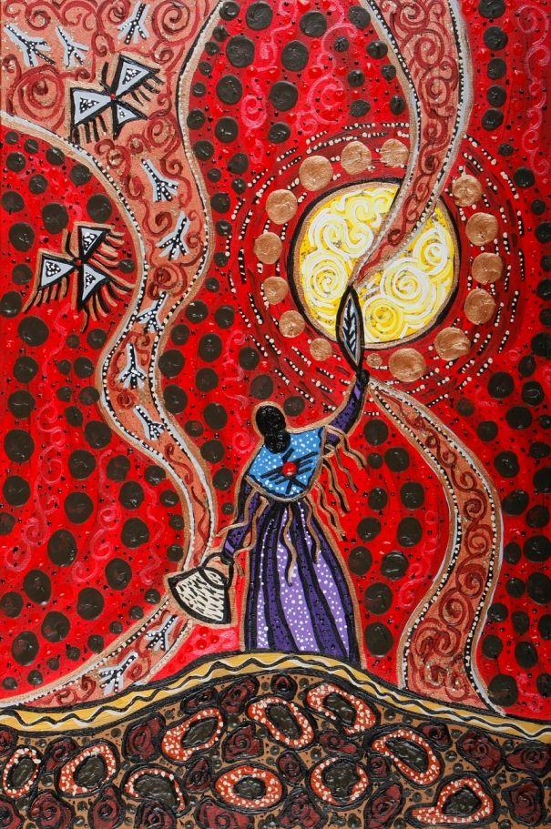 1 La Mujer Sol es una luz brillante que irradia toda clase de bienestar, es una luz poderosa imposible de apagar. Es hija del padre Sol y manifiesta calor, brillo y poder de transformación hacia la luz. Es un rayo de luz que atraviesa la oscuridad y corta el velo de la ignorancia. La mujer provee claridad para que cada quien pueda ver y combatir lo que se le dificulta en el camino del conocimiento.Yo soy luz. Yo soy mi propia fuerza y corto el velo de mi ignorancia.