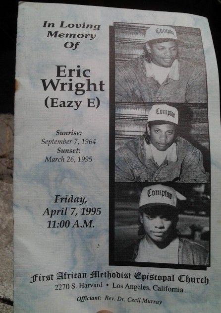 Eric Wright Aka Eazy E 1963 1995 Great Folkz Pepos Pass On Some