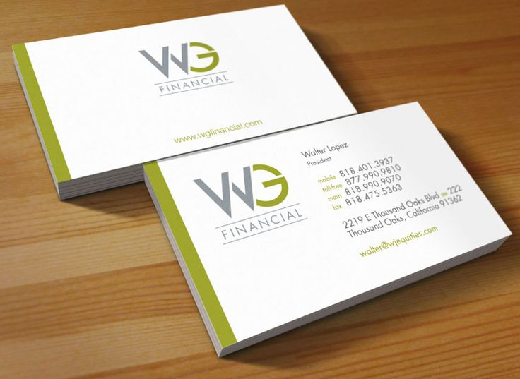 combinations of nature colors in Visiting card