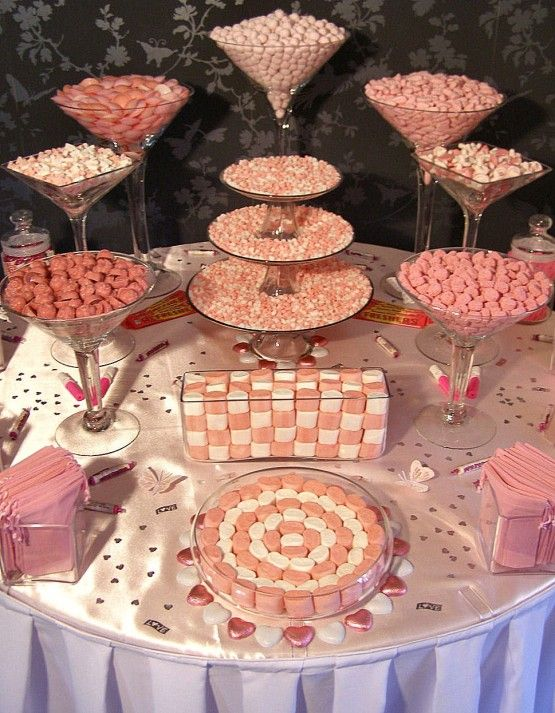 37 best modern pink white candy station images on for Table 52 dessert