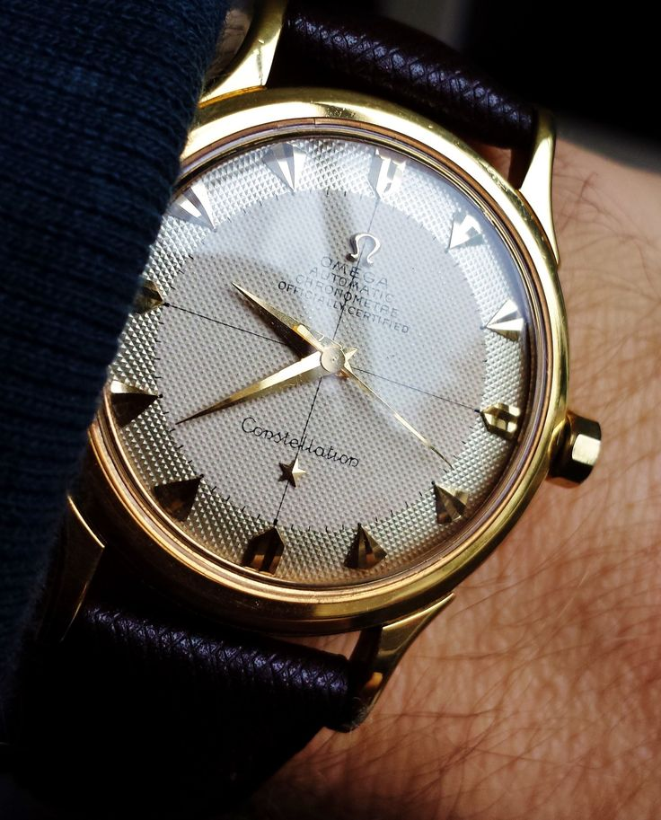 Stunning Vintage OMEGA Constellation Chronometer In 18K Solid Gold