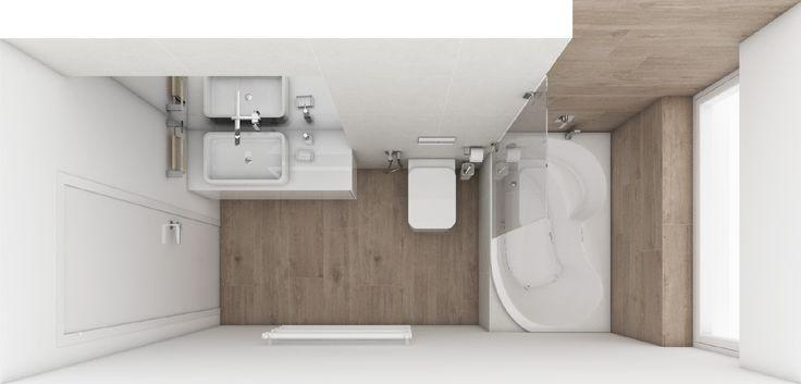 Moderná kúpeľňa OSLO - Pôdorys kúpeľne