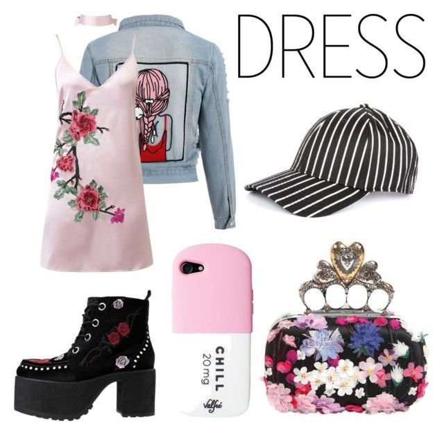 """""""c.m.c.w. - sixteen"""" by lotvs ❤ liked on Polyvore featuring WithChic, T.U.K., Alexander McQueen and rag & bone"""