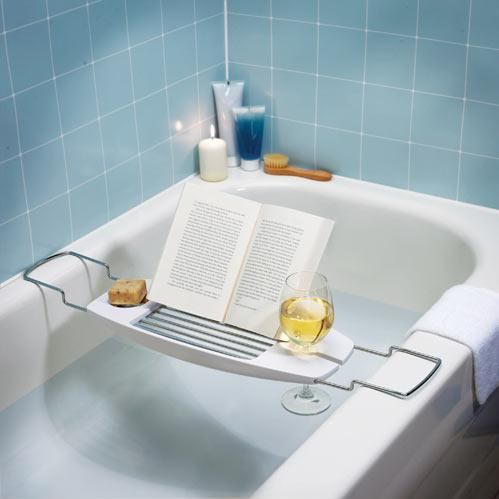 Bathtub Tray I Actually Would Just Want This To Hold My Wine Glass Lol. Book  HoldersGlass ...