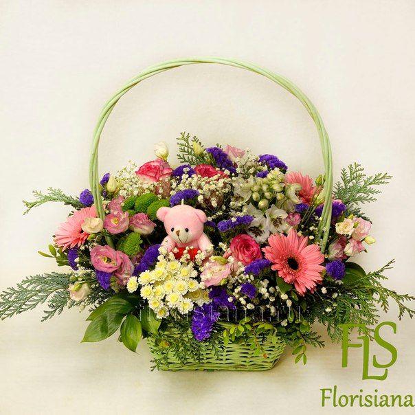 Корзины с цветами – 38 товаров