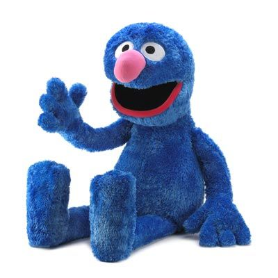 """$99.95 Sesame St. Jumbo Grover Plush  Life-sized Grover makes a perfect playmate for your lucky little one! This jumbo plush Sesame Street character is huggably soft and irresistibly lovable for safe and imaginative play.Weight: 3.8 lbs. 14"""" x 13 1/2"""" x 41"""" high."""