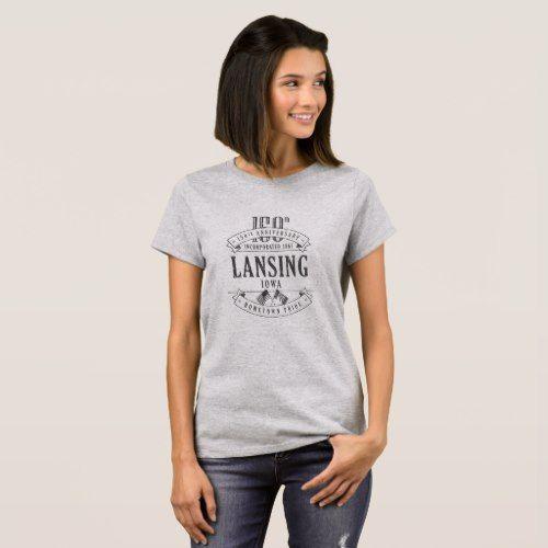 Lansing Iowa 150th Anniversary 1-Color T-Shirt - anniversary gifts ideas diy celebration cyo unique