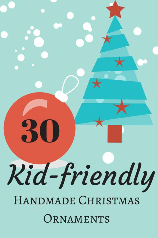 Thirty different ways to decorate a tree - and they're all created by kids! Get great ideas to go handmade this Christmas! - Suburble.com