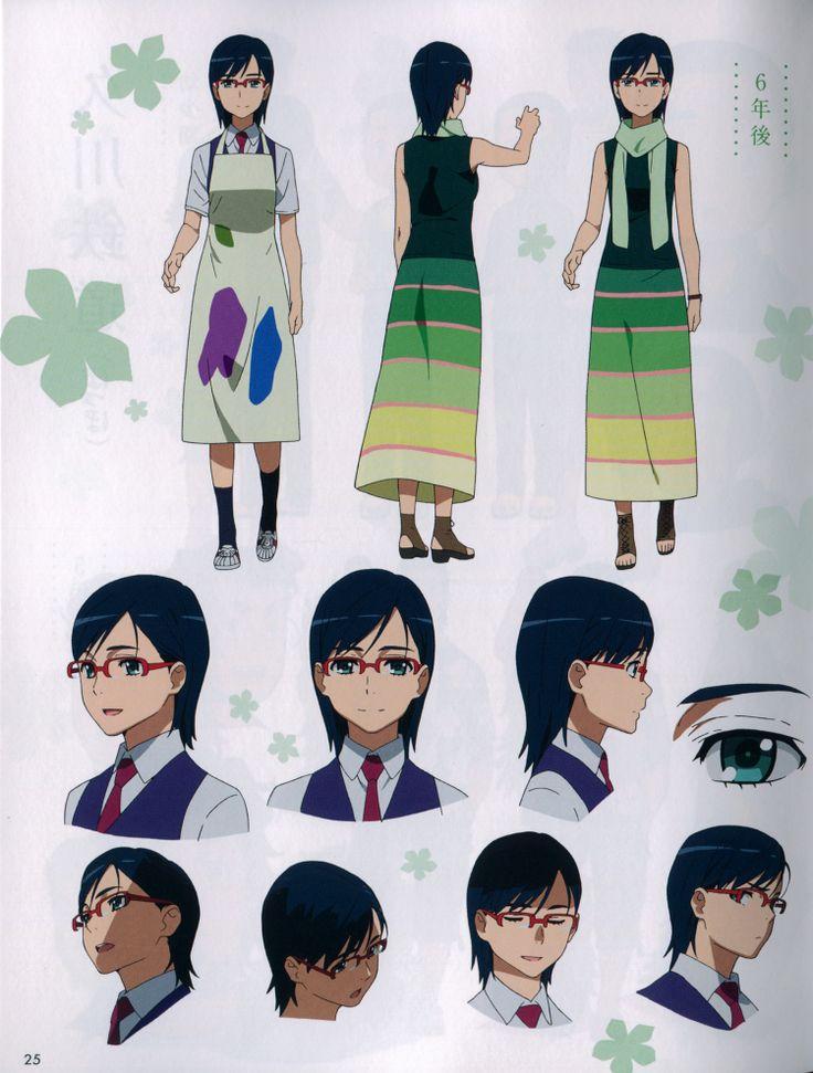anohana character design | REF: Masayoshi Tanaka ...