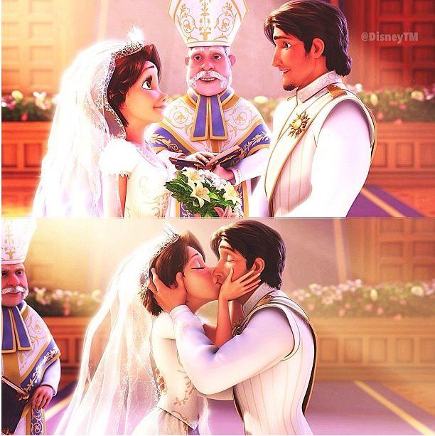 Rapunzel and Flynn's wedding