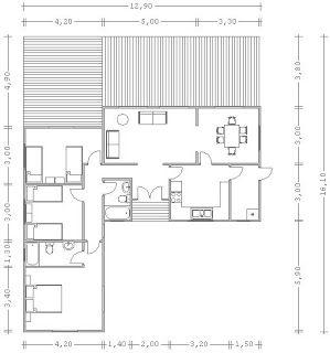 Planos casas de madera prefabricadas planos chalets 100 a for Planos de chalets