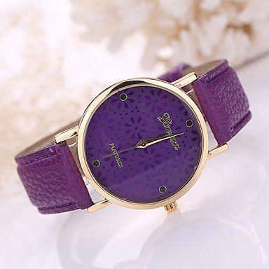 Damen Modeuhr Quartz Armbanduhren für den Alltag Leder Band Schwarz / Weiß…