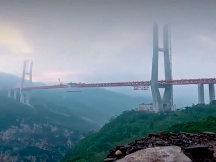 It took three years and $146.7 million (a bargain!) to build the Beipangjiang Bridge.
