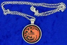 Targaryen Fire and Blood Dragon Necklace Game of Thrones Chain Length Choice