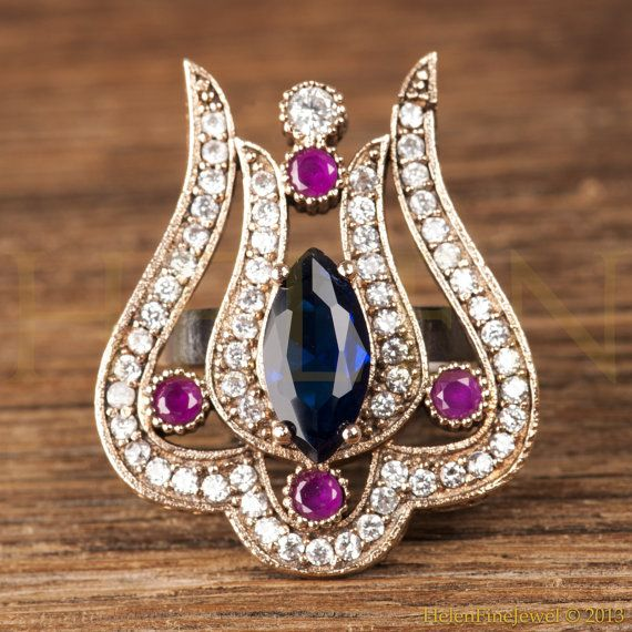 Authentic Turkish Ottoman Style Ring   TULIP by HelenFineJewel, $29.00
