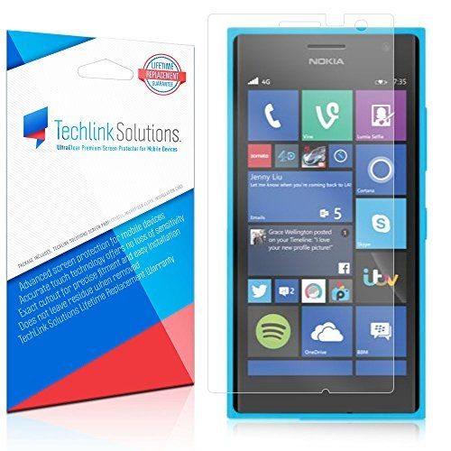 TechLink Solutions UltraClear (6-Pack) - Nokia Lumia 730 / 735 Screen Protector / Premium HD Crystal Clear Shield /Anti-Bubble & Anti-Fingerprint PET Film with Lifetime Warranty TechLink Solutions http://www.amazon.com/dp/B00VQPHQWI/ref=cm_sw_r_pi_dp_nRZ6vb08PX2WJ