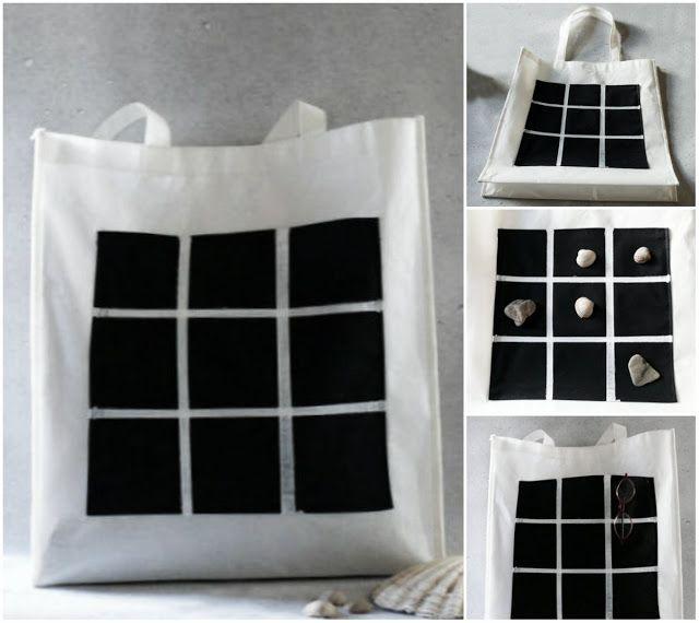 gk kreativ: Freizeittasche mit Tic Tac Toe Spielfeld