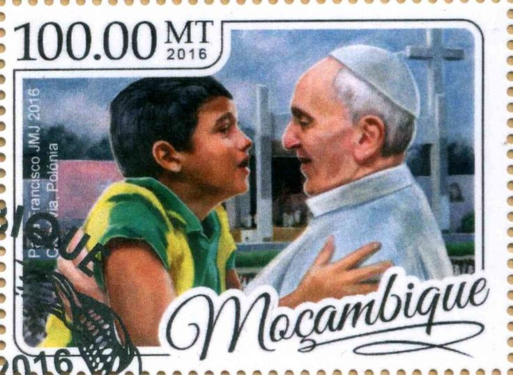Stamp: Pope Francis (Mozambique) Col:MZ 2017-01c