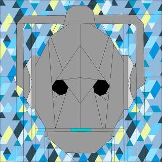 Cybermen Doctor Who Quilt block QAL
