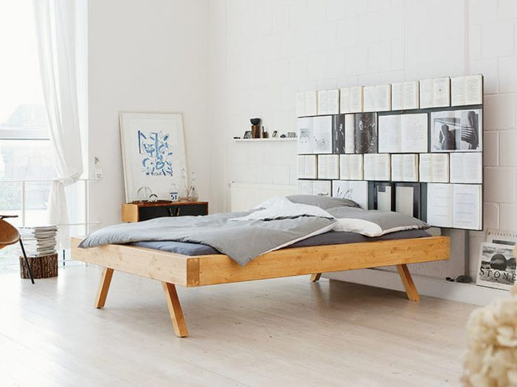 DIY-Anleitung: Bett mit Bücherwand selber bauen / diy inspiration for a wooden bed, craft furniture via DaWanda.com