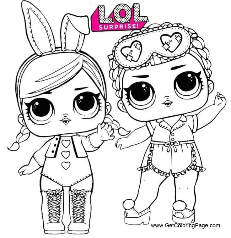 Dolls Coloring Two Sweet Lol Dolls Coloring Pages Birthday Coloring Pages Cute Coloring Pages Lol Dolls