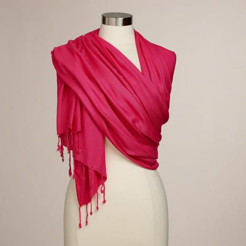 One of my favorite discoveries at WorldMarket.com: Hot Pink Pashmina Shawl