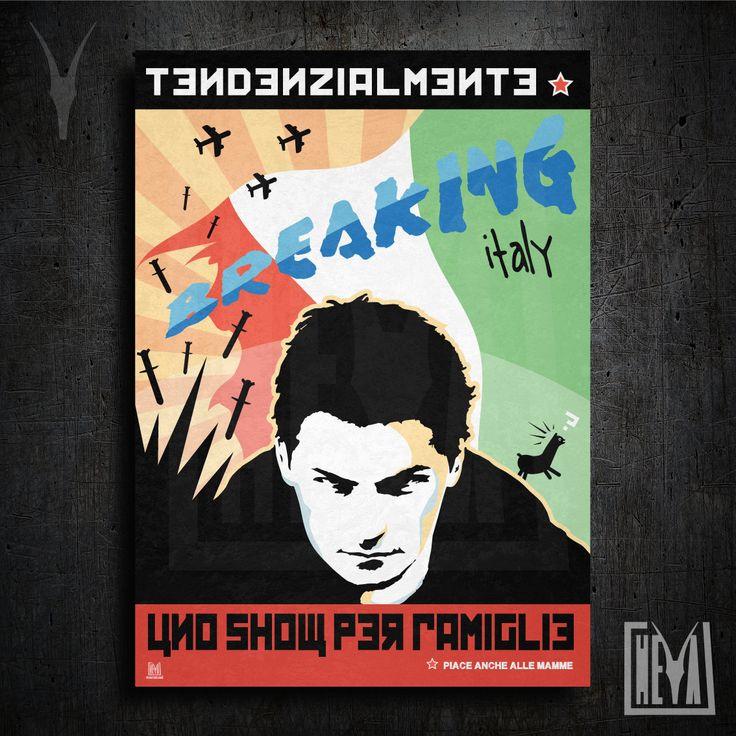 Poster da collezione 50x70 cm - Breaking Italy. Tendenzialmente uno show per famiglie - Design originale Heya di HeyaStore su Etsy