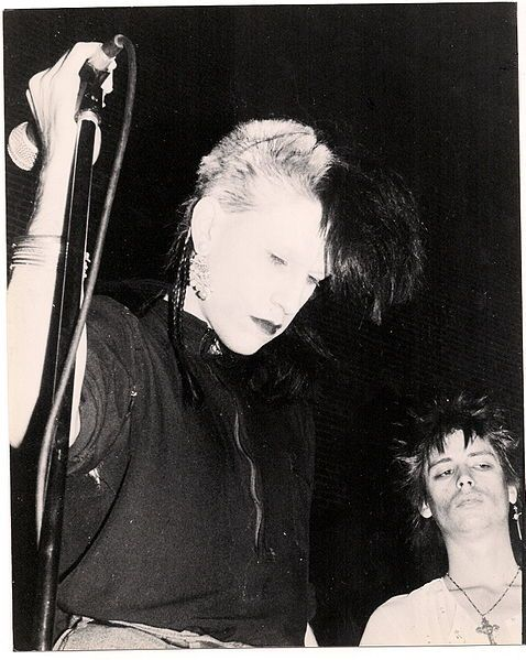 1983 live photo Christian Death Rozz Williams Johnnie Sage